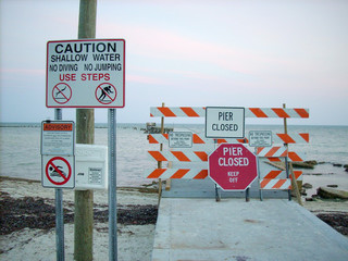 Pier Closed Key West - Florida