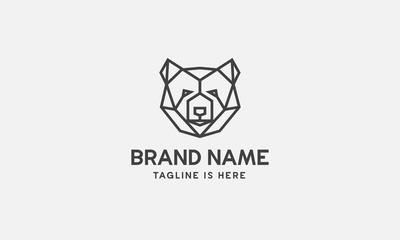 bear logo design, line art, vector, geometric bear