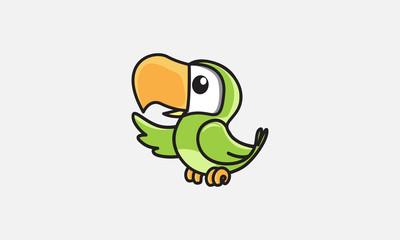 bird illustration, parrot