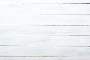 old white shabby wooden table background directly above