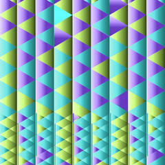 Abstract multicolor geometric pattern. Vector illustration
