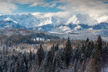 Obraz Tatra Mountains view - fototapety do salonu