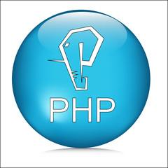 Php programming Log of elephant symbol icon