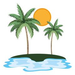 natue palms cartoon