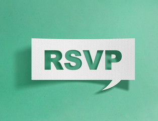 Speech bubble with rsvp message