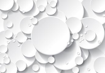 Obraz fond cercle blanc - fototapety do salonu