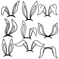 Easter bunny ears. Design element for poster, card, banner, flyer