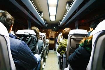[日本] 夜のバス車内 (No.1465)