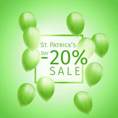 St. Patricks Day Sale Banner