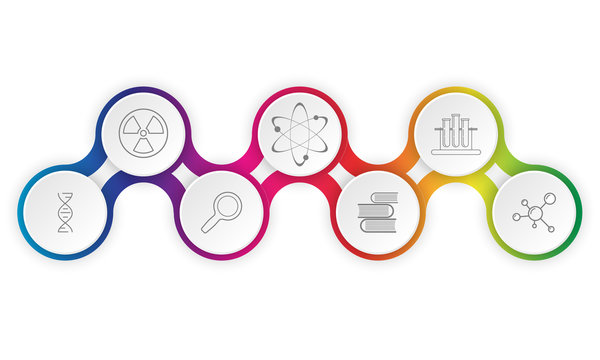 Colorful vector infographic with topic of science and education