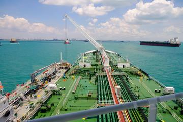 Deck of a supertanker