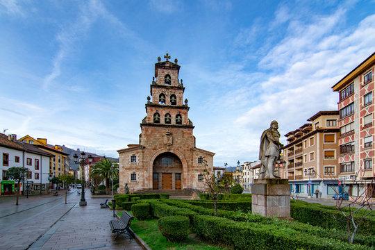 Church of the Assumption of Cangas de Onis and Statue of Don Pelayo, Asturias