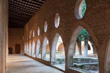 Cloister gallery of Monastery of Santa Maria de Santes Creus
