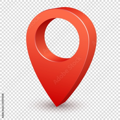 Map pointer 3d pin  Pointer red pin marker for travel place