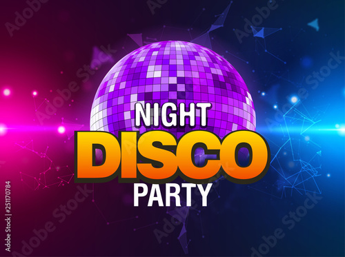 Disco party background  Music dance vector design for