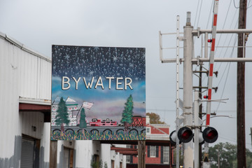 Bywater sign in New Orleans (USA)