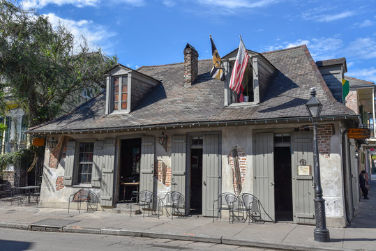 Historic house in the French quarter of New Orleans (USA)