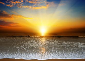 Poster Mer coucher du soleil Fantastic sunset over ocean