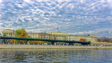 The building of Naval Academy by name of Admiral of the Fleet of the Soviet Union N.G. Kuznetsov, academy of the Russian Navy, located in Saint-Petersburg, Russia.