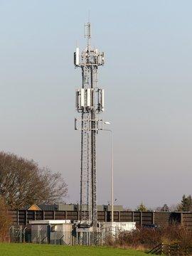 Mobile Phone Mast by M25 Motorway, Rickmansworth, Hertfordshire, England, UK