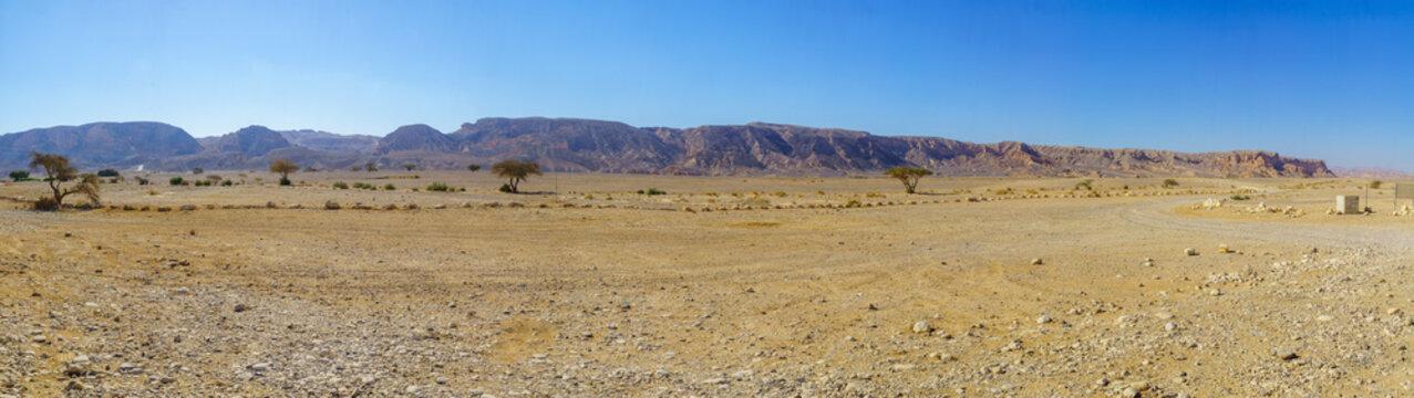 Panoramic view of Wadi Paran Nature reserve