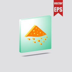Pile of sand isometric icon.Vector illustration.