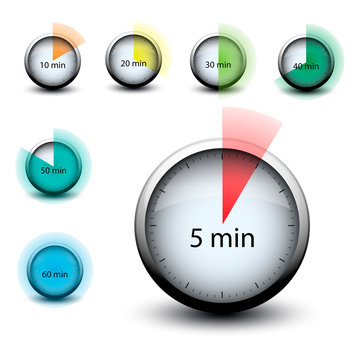 stopwatch with expiring time n minutes web icon