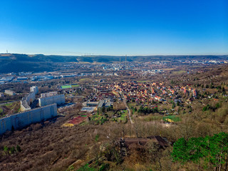View over Jena from the Lobdeburg