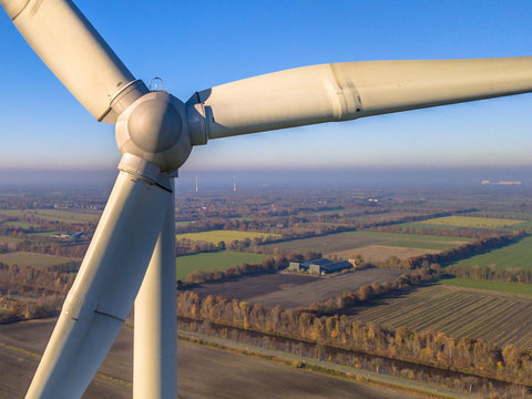 Rotor and Nacelle of Wind Turbine crop