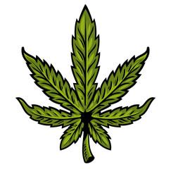 leaf of marijuana
