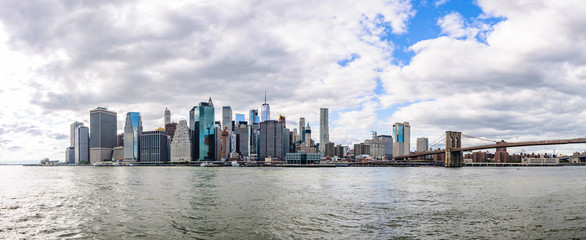 Panoramic view of the skyline in Brooklyn, New York, USA
