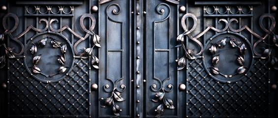 Fototapeta big large metal gates obraz