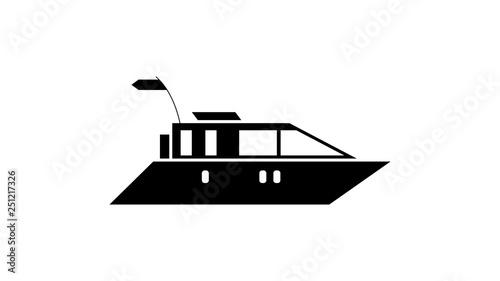 Yacht ship silhouette icon  Element of ship icon  Premium