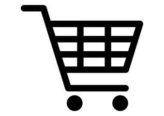 gz330 GrafikZeichnung - german: Warenkorb / Einkaufswagen / Bestellung / Auftrag / Shop / Symbol - english: shopping cart icon / order / shop - simple template - DIN A4 - g7256