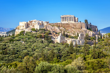 Fototapete - Acropolis hill in Athens, Greece