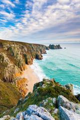 Fototapete - Pedn Vounder Beach Cornwall England UK