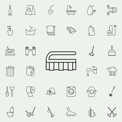brush icon. Cleaning icons universal set for web and mobile