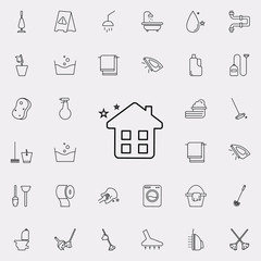 clean home icon. Cleaning icons universal set for web and mobile