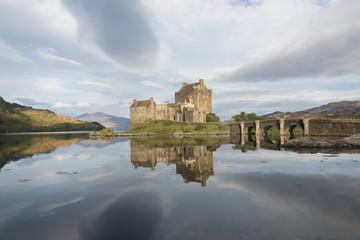 Eilean Donan castle in a Scotland landscape