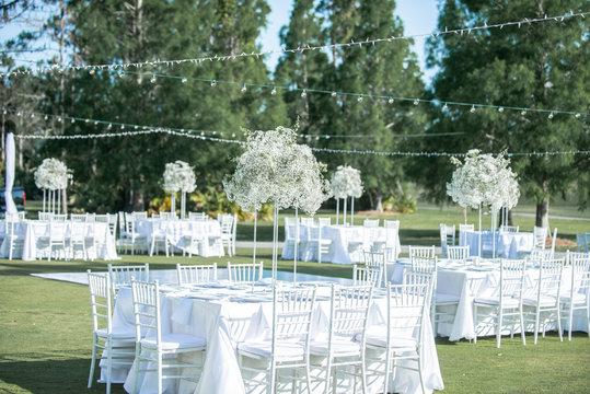 Babys Breath Outdoor Wedding Centerpices