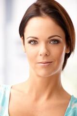 Closeup portrait of attractive female