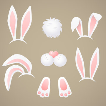 Rabbit, bunny - vector, easter illustration.