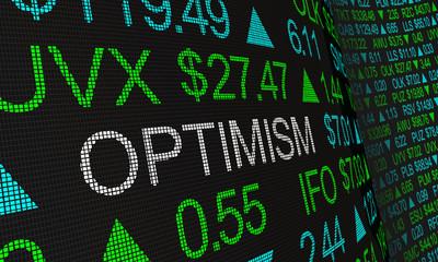 Optimism Good Feeling Positive Attitude Stock Market 3d Illustration