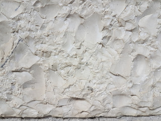 stone carved white top view for background
