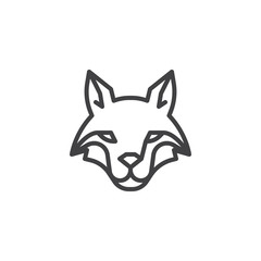 Fox head line icon. linear style sign for mobile concept and web design. Coyote outline vector icon. Wild animals symbol, logo illustration. Pixel perfect vector graphics