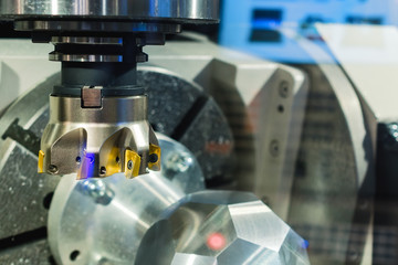 Spindle modern high-precision CNC milling machine.