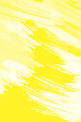 abstract summer yellow and white paint  grunge brush texture background