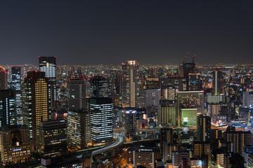 Night landscape view of Osaka, Japan