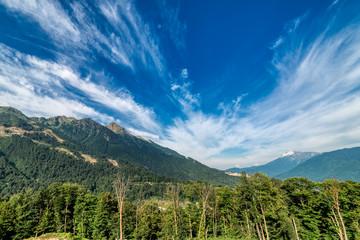 Mountain landscape. Sunny day.