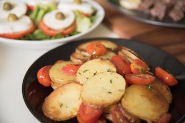 Tomato and potato salad
